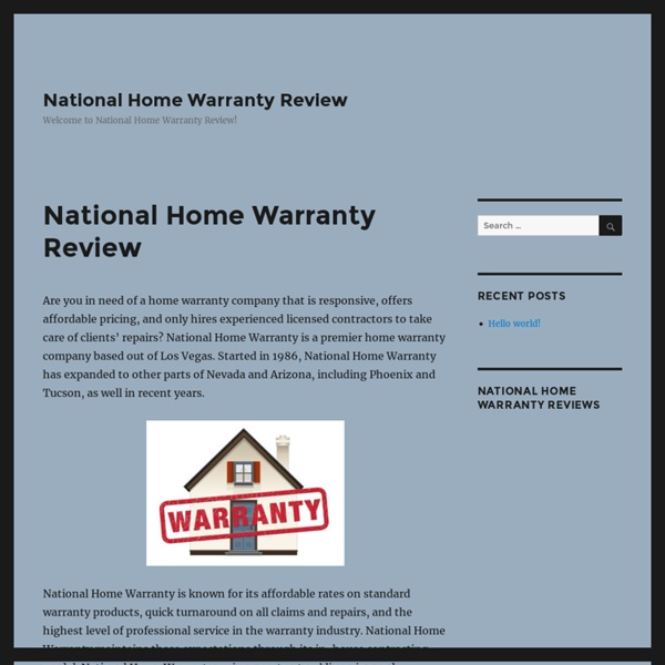 National Home Warranty Review - National Home Warranty Review