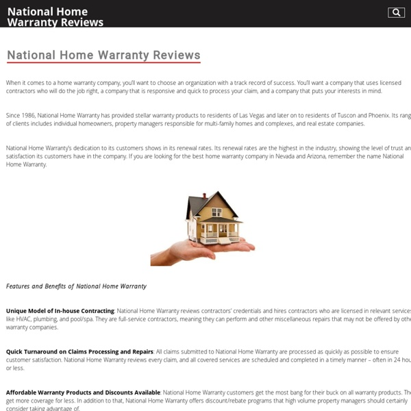 National Home Warranty Reviews