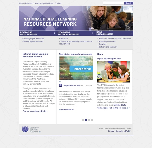 National Digital Learning Resources Network home page