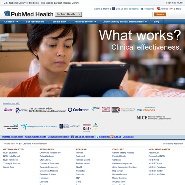 PubMed Health - National Library of Medicine