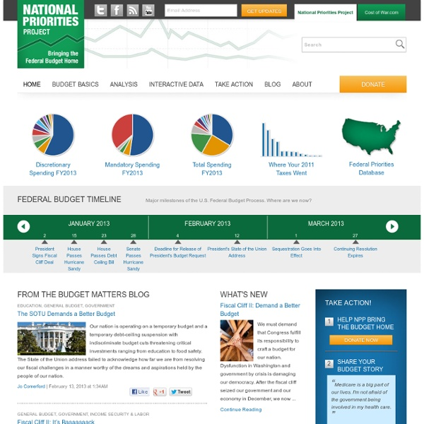 Home - National Priorities Project