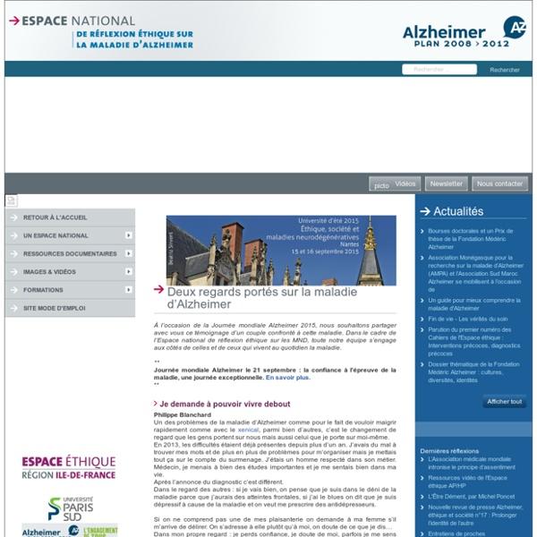 Espace national de réflexion éthique sur la maladie d'Alzheimer