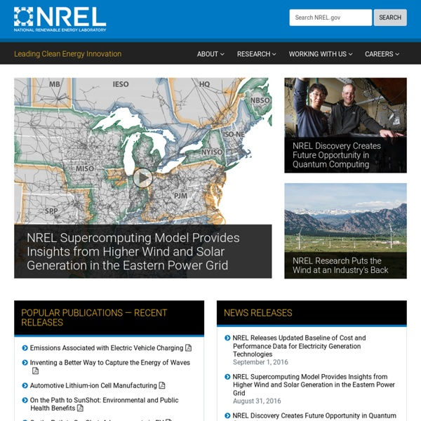 National Renewable Energy Laboratory (NREL) Home Page