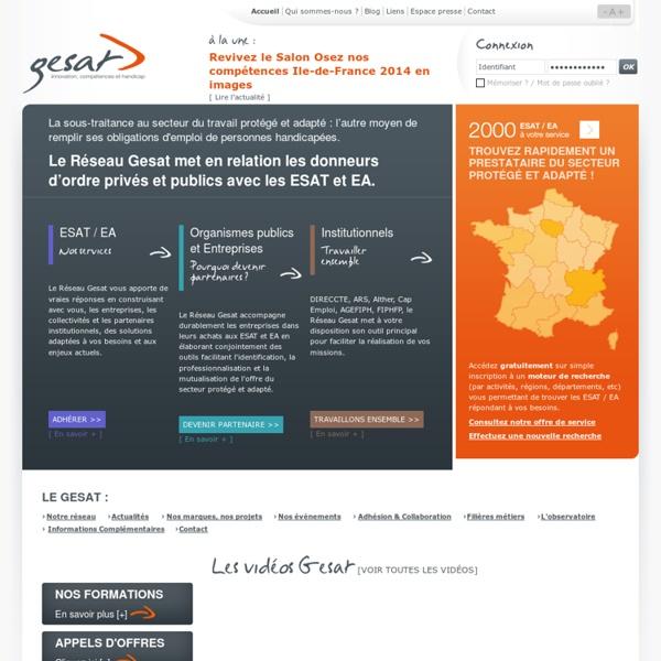 Gesat - Le réseau national du secteur protégé et adapté