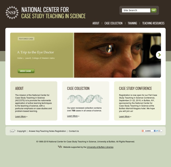 National Center for Case Study Teaching in Science (NCCSTS)