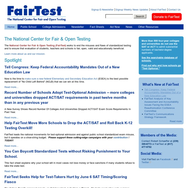 The National Center for Fair & Open Testing