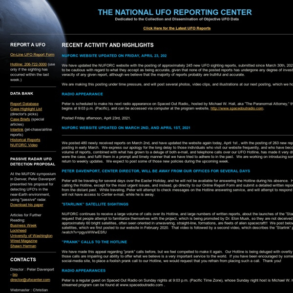 National UFO Reporting Center
