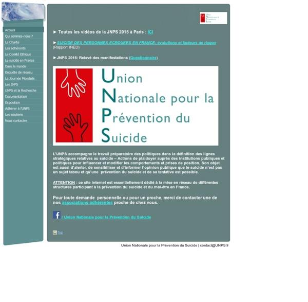 UNPS - Union Nationale pour la Prévention du Suicide