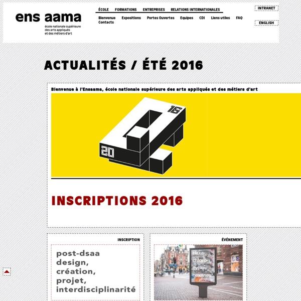 ENSAAMA - Ecole Nationale Supérieure des Arts Appliqués et des Métiers d'Art
