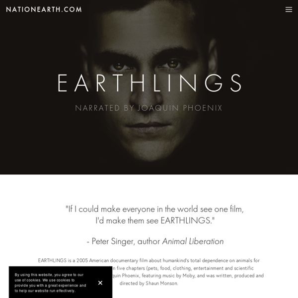 EARTHLINGS - Make the Connection.