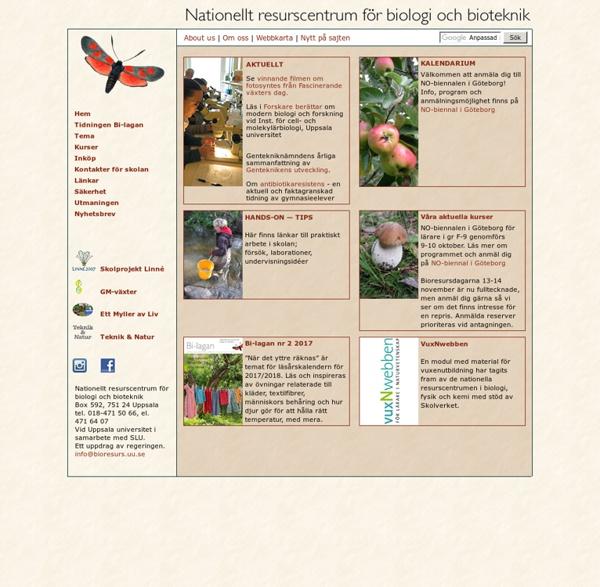 Nationellt resurscentrum för biologi och bioteknik