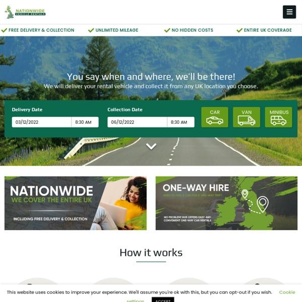 Nationwide Vehicle Rentals - Car, Van & Minibus Hire.