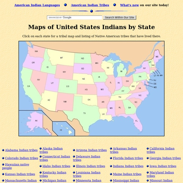 Maps of Native American Tribes in the United States