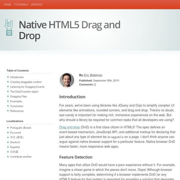 Native HTML5 Drag and Drop