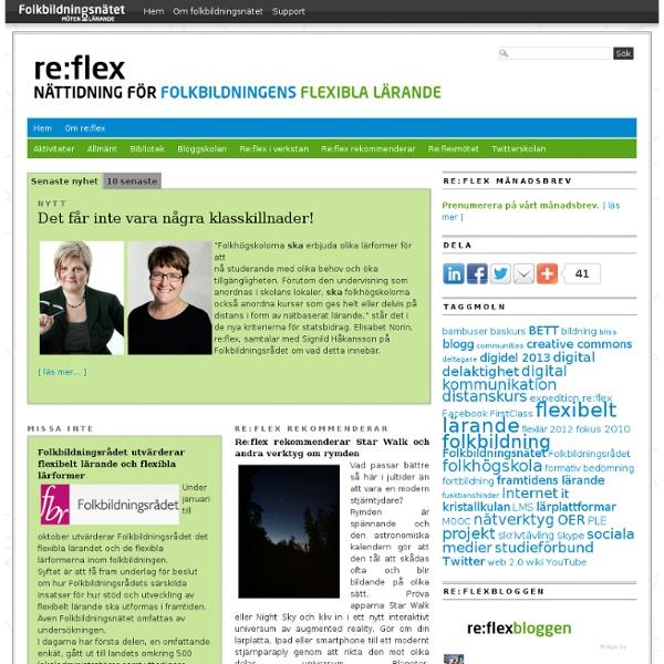 Re:flex » Nättidning för folkbildningens flexibla lärande