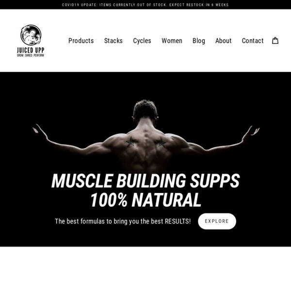 Juiced Upp - 100% Natural, Legal & Safe Anabolic Steroids