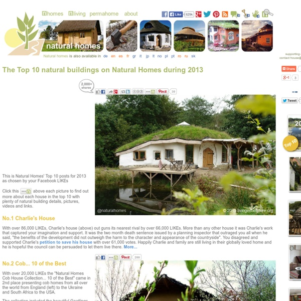The 2013 Top 10 Natural Buildings as voted by Natural Homes' readers
