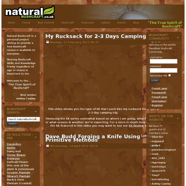 Natural Bushcraft - The True Spirit of Bushcraft