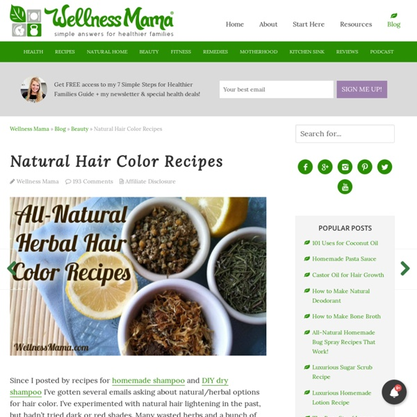 All Natural Hair Color Recipes Using Herbs