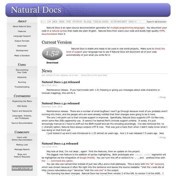 Natural Docs