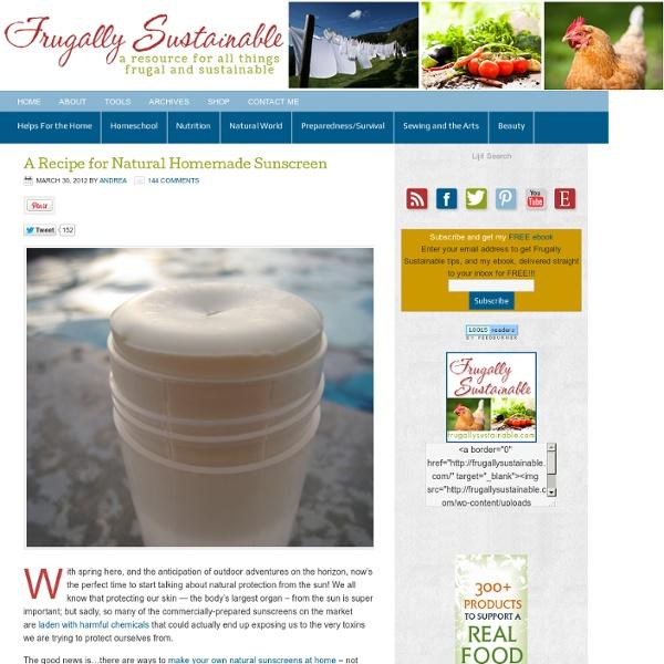 A Recipe for Natural Homemade Sunscreen