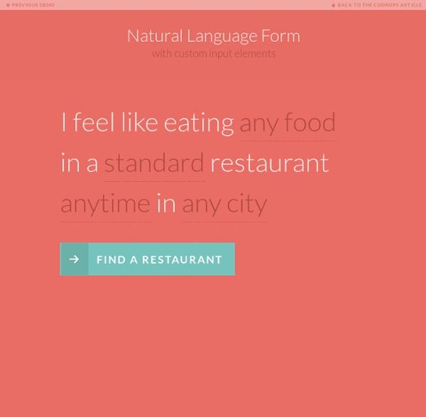 Natural Language Form
