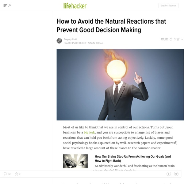 How to Avoid the Natural Reactions that Prevent Good Decision Making