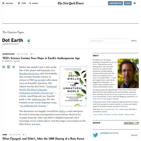 Natural Resources and the Environment - Dot Earth Blog - NYTimes.com