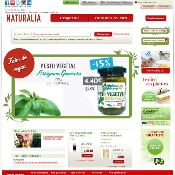 Naturalia, magasin bio et nature, produits biologiques