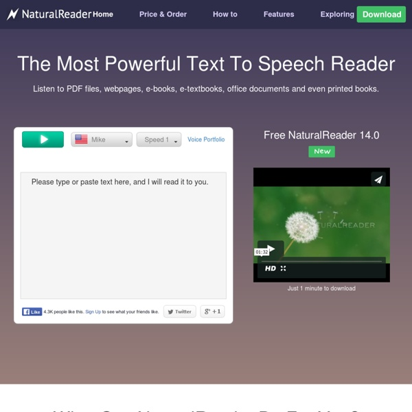 Free text to speech with Naturally Sounding Voices