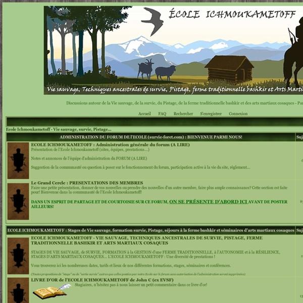 Forum Nature et Survie avec l'EVSF Ecole de vie et survie en forêt