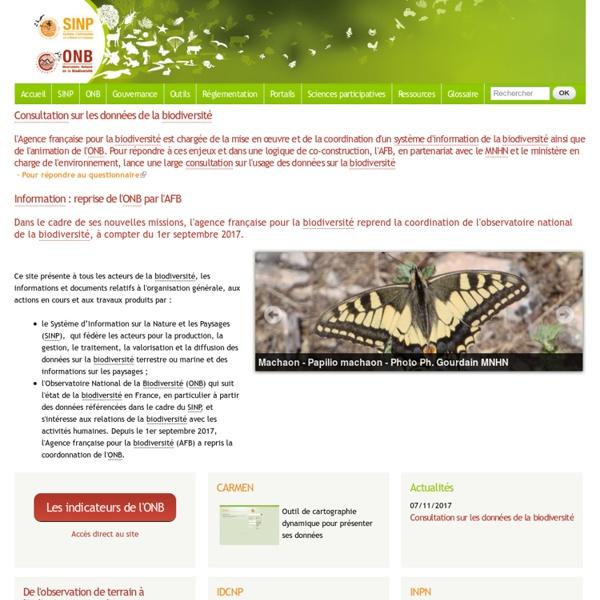 NatureFrance site d'information générale et d'actualités sur le SINP et l'ONB