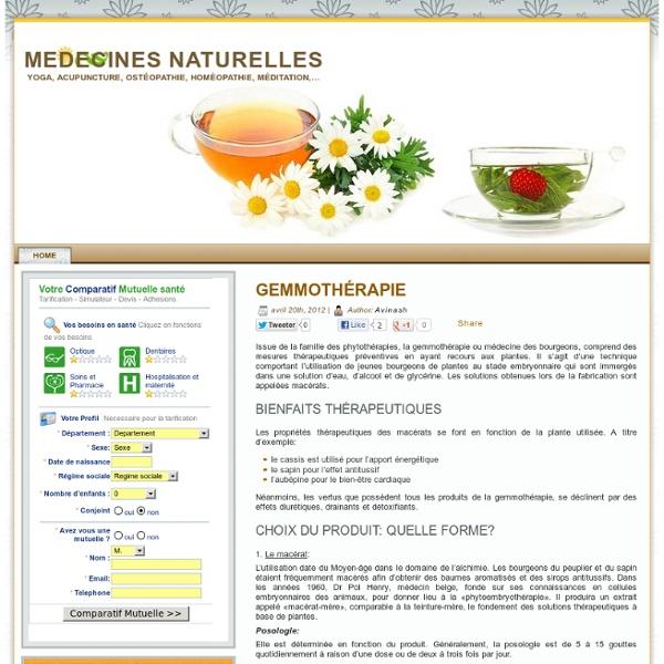 Médecine naturelle : Tout sur les médecines naturelles .