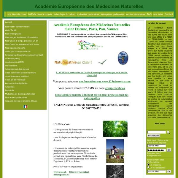 Formation, cours, école de naturopathie, phytothérapie, diététique