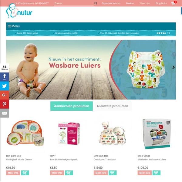 Natuurlijke, eerlijke en eco producten voor moeder en baby - Nutur.nl