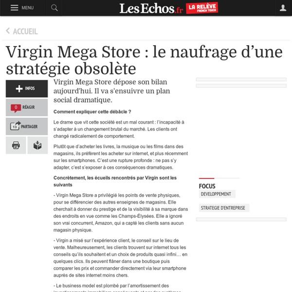 Virgin Mega Store : le naufrage d'une stratégie obsolète