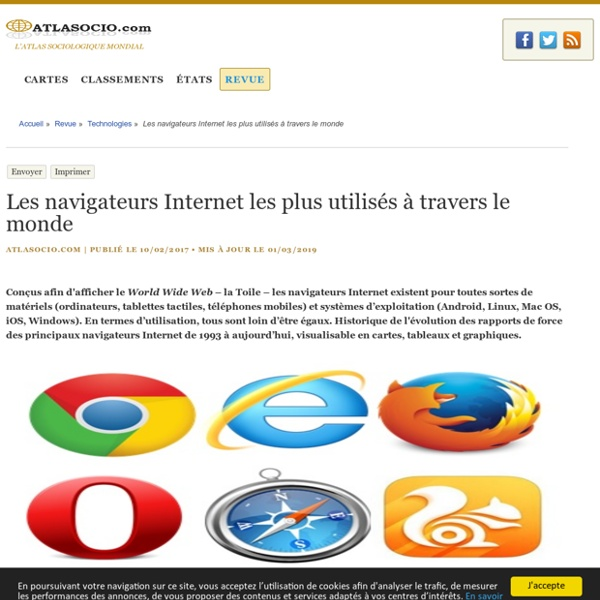 Les navigateurs Internet les plus utilisés à travers le monde