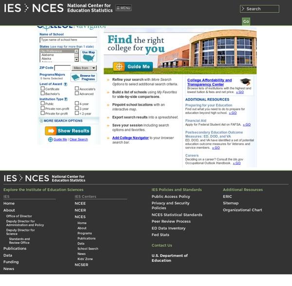 College Navigator - National Center for Education Statistics