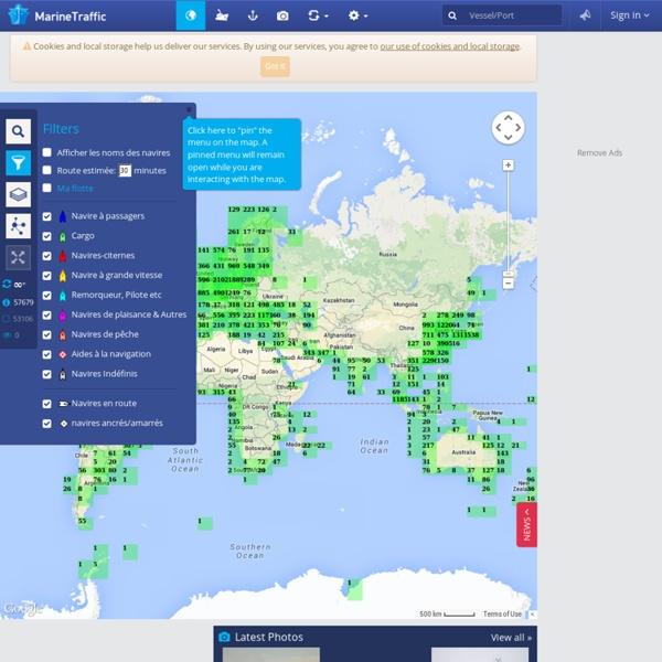 Carte en temps réel des navires - AIS - trafic maritime et positions