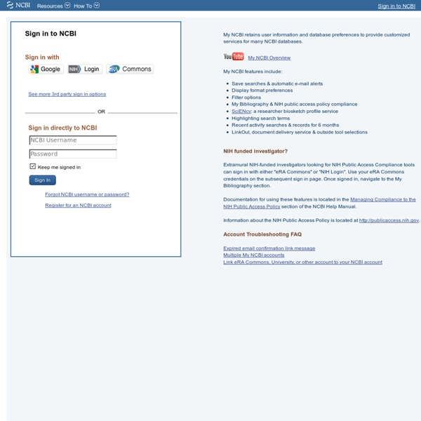 NCBI Sign In Page