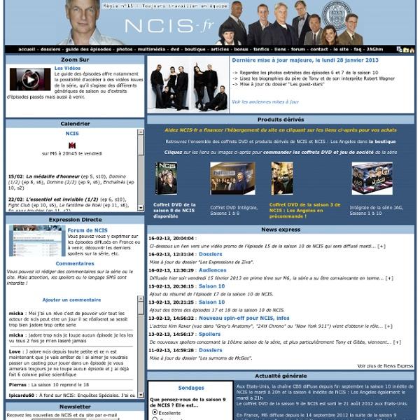 NCIS-fr, dédié à NCIS : enquêtes spéciales