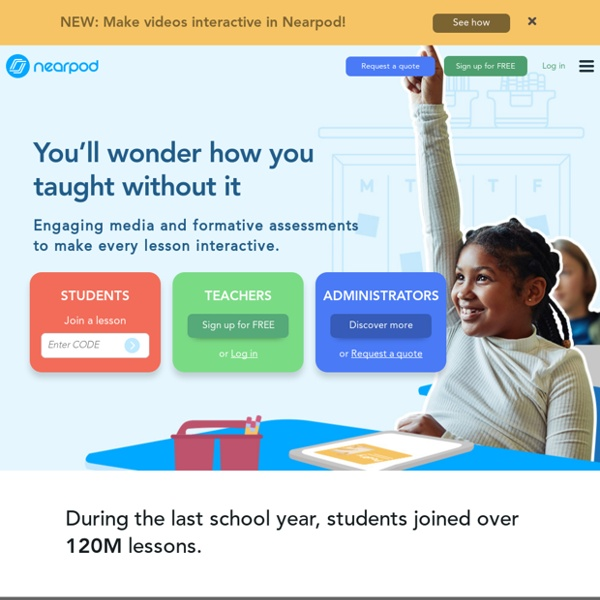 Nearpod: Create, Engage, Assess through Mobile Devices.