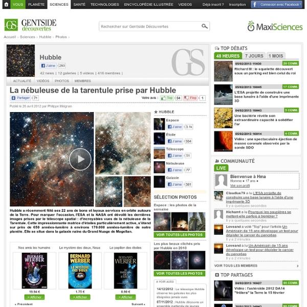 Photos - La nébuleuse de la tarentule prise par Hubble