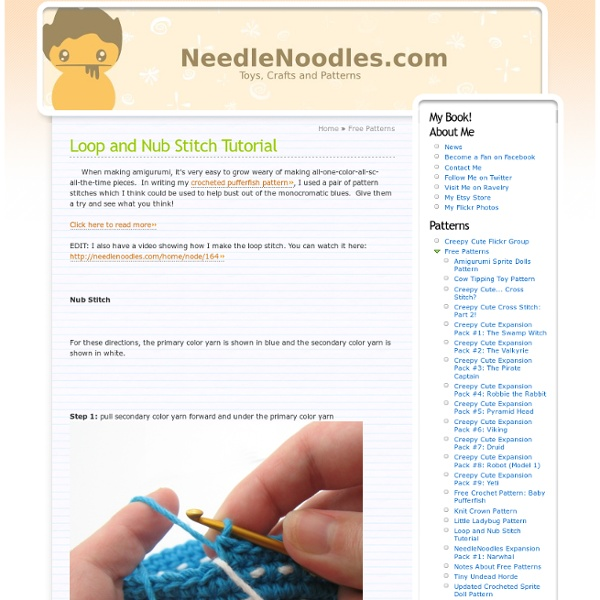 Loop and Nub Stitch Tutorial