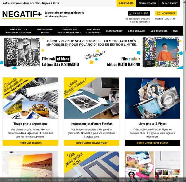 Laboratoire Négatif+ Photographie argentique et numérique