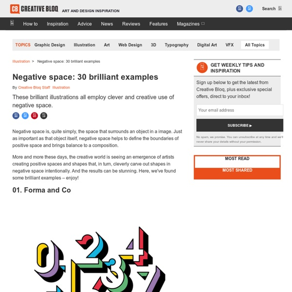 The art of negative space: 20 amazing examples