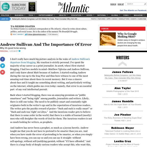 The Atlantic: Ta-Nehisi Coates