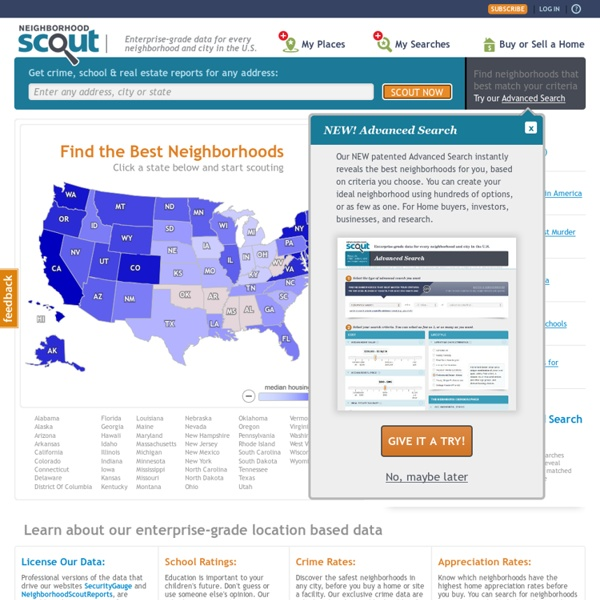 Neighborhood Search for Home Buyers and Real Estate Investment - NeighborhoodScout