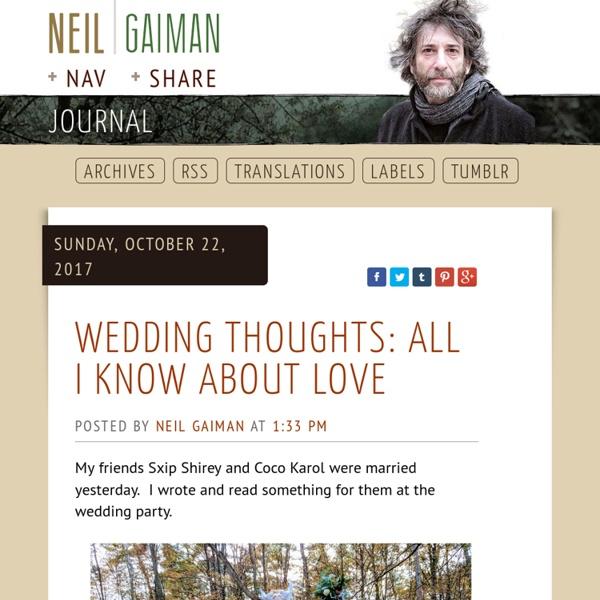 Neil Gaiman's Journal