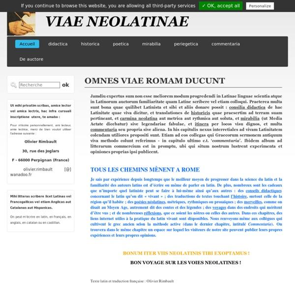 Via-neolatina - Accueil de mon site créé avec Meabilis